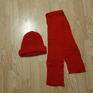 Red hat and scarf bundle